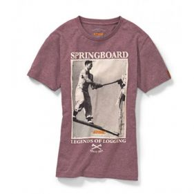Tricou Retro STS bordeaux