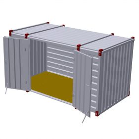 Container 4m cu usa dubla in lateral, 4m x 2m