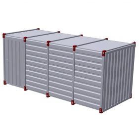 Container 5m cu usa simpla in lateral, 5m x 2m