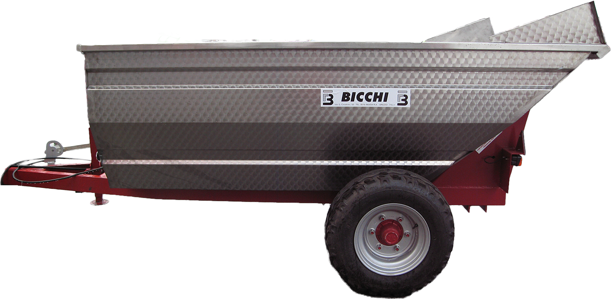 Remorca viticola Bicchi model BM15P