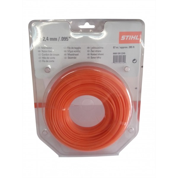 Fir nylon rotund 2.4mm x 87m Stihl