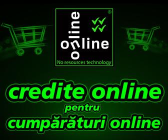 Online-Online este o tehnologie Credius Invented, prima de pe piata romaneasca ce permite creditarea exclusiv online a cumparaturilor facute pe internet.