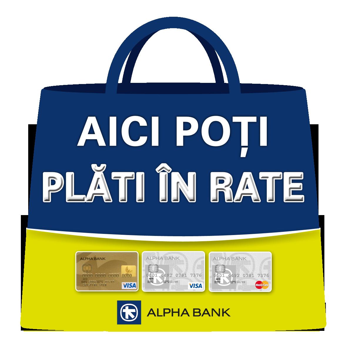 Plateste online cu cardul Alpha Bank