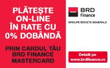 Plateste online cu cardul BRD Finance