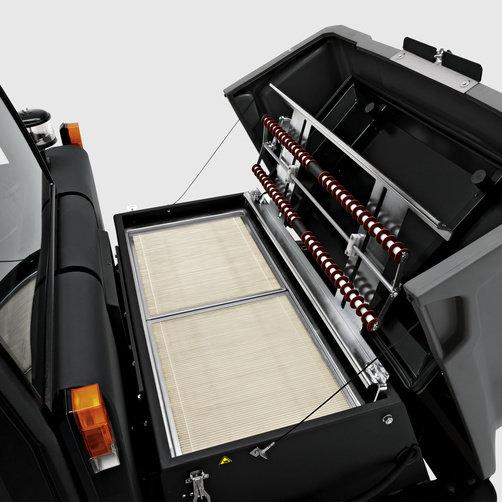 Masina de maturat - aspirat KM 170/600 R D: Filtru performant pentru timp de utilizare indelungat.