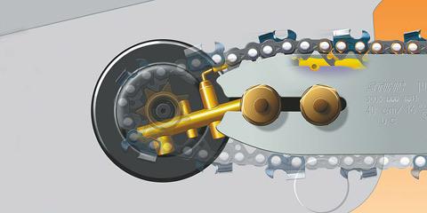 Sistem Ematic pentru ungerea lantului
