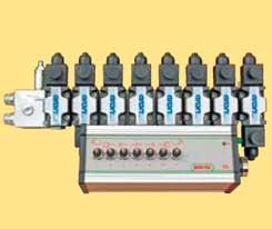 Distribuitor electrohydraulic cu 7 iesiri